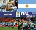 Argentina comemora sua classificação, Brasil 2014