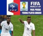 Paul Pogba, Prêmio Jogador Jovem. Copa do mundo de futebol Brasil 2014
