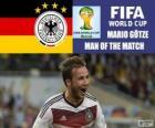 Mario Götze, melhor jogador da final. Copa do mundo de futebol Brasil 2014