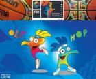 Ole e Hop, mascotes do Campeonato Mundial de Basquetebol de 2014