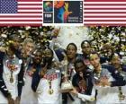 Estados Unidos da América, campeão da Copa do mundo de FIBA 2014