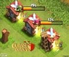 Quartel em diferentes níveis, Clash of Clans