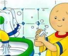 Caillou lava as mãos