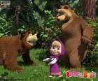 Masha com os dois ursos