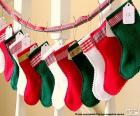 Meias de Natal em várias cores