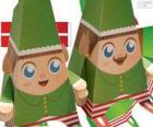 Elfos de Natal de papel