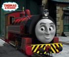 Victor é o chefe da Oficina Ferroviária de Sodor