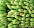 Bananas verdes e amarela