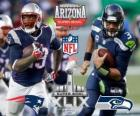 Super Bowl 2015. New England Patriots vs Seattle Seahawks. University of Phoenix Stadium, Glendale, Arizona, 1 de fevereiro de 2015