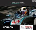 Lewis Hamilton, Mercedes, Grande Prêmio do Monaco 2015, terceiro lugar