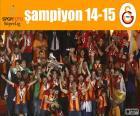 Galatasaray SK, campeão da Super Lig 2012-2013, liga de futebol da Turquia