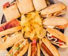 Sanduíches variados