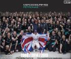 Lewis Hamilton, campeão do mundo de Fórmula 1 2015 com Mercedes. Seu terceiro título 2008, 2014 e 2015