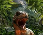 Tyrannosaurus Rex, com a boca aberta