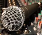 Microfone e misturador