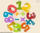 Números e símbolos