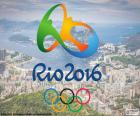 Logotipo dos Jogos Olímpicos Rio 2016, de 5 a 21 de agosto de 2016