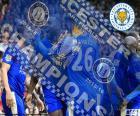 Leicester City FC, campeão da Premier League 2015-2016, liga de futebol da Inglaterra