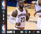 NBA finals 2016, jogo 6, Golden State Warriors 101 - Cleveland Cavaliers 115