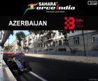 """Sergio """"checo"""" Pérez, terceiro o Grande Prêmio da Europa 2016 com sua Force India, alcançando assim o sétimo pódio"""
