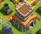 Três edifícios de Clash of Clans