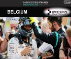 Nico Rosberg celebra sua sexta vitória da temporada para o Grande Prêmio da Bélgica 2016