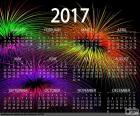 Calendário de 2017, feliz ano