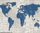 Quebra-cabeça do mapa do mundo