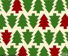 Fundo de árvores de Natal