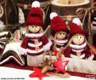 Três bonecos de Natal