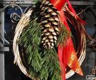 Guirlanda de Natal rústica