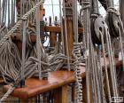 Cordas e polias de barco