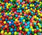 Piscina de bolas coloridas