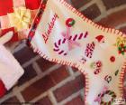 Meia de Natal e presente