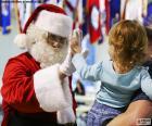 Menina e Papai Noel