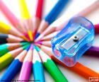Apontador de lápis em plástico