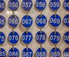 Placas numeradas