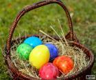 Cesta de ovos de Páscoa