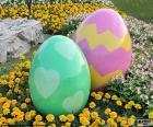 Grandes ovos de Páscoa