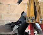 Duelo entre cavaleiros medievais