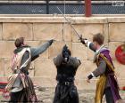 Três Cavaleiros lutando