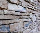 Parede de pedra natural