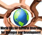 Diversidade Cultural global de dia para o diálogo e o desenvolvimento