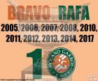 Rafa Nadal, 10 Roland Garros