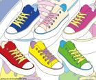 Calçados esportivos de cores