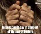 Dia internacional das Nações Unidas em apoio a vítimas de tortura, 26 de junho. Lutar contra a tortura e outras penas ou tratamentos cruéis, desumanos ou degradantes