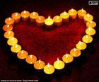 Coração de velas