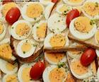 Torrada de ovo cozido