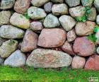 Muro de pedra de jardim
