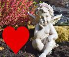 Cupido coração i vermelho